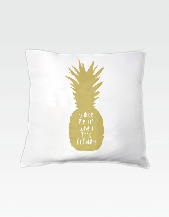 Kissen Ananas - wake me up when it's friday