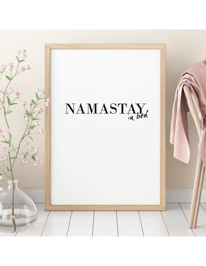 "Poster ""namastay in bed"""