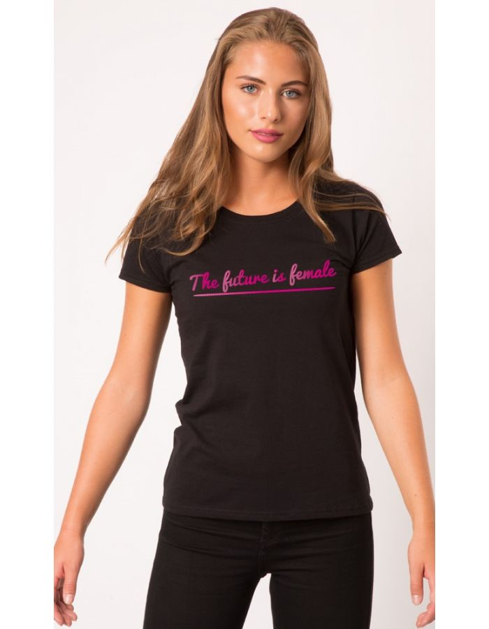 "T-Shirt ""The future is female"" pinke Schrift"
