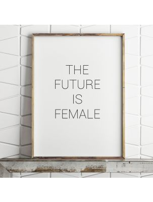 "Poster ""The future is female"""