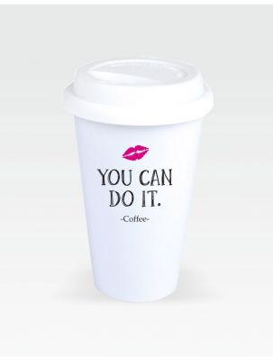 "Coffee-to-Go-Becher ""You can do it"""