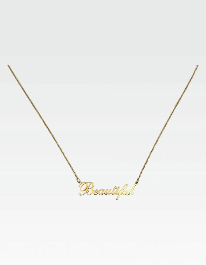 "Halskette ""Beautiful"" - Gold"