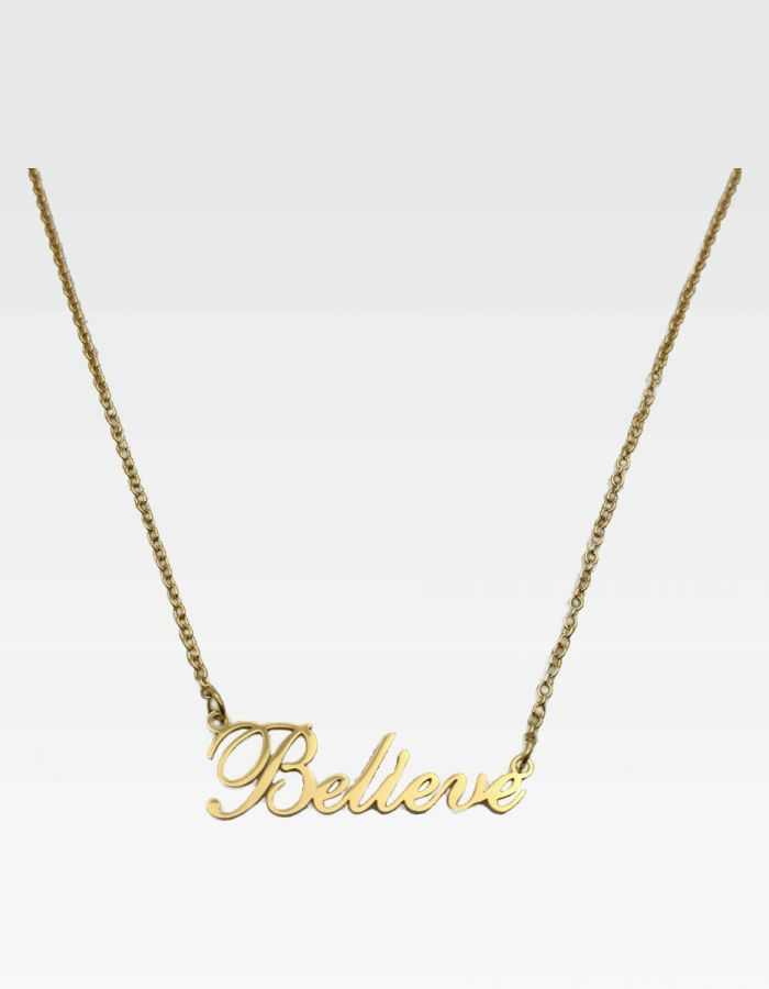 "Halskette ""Believe"" - Gold"