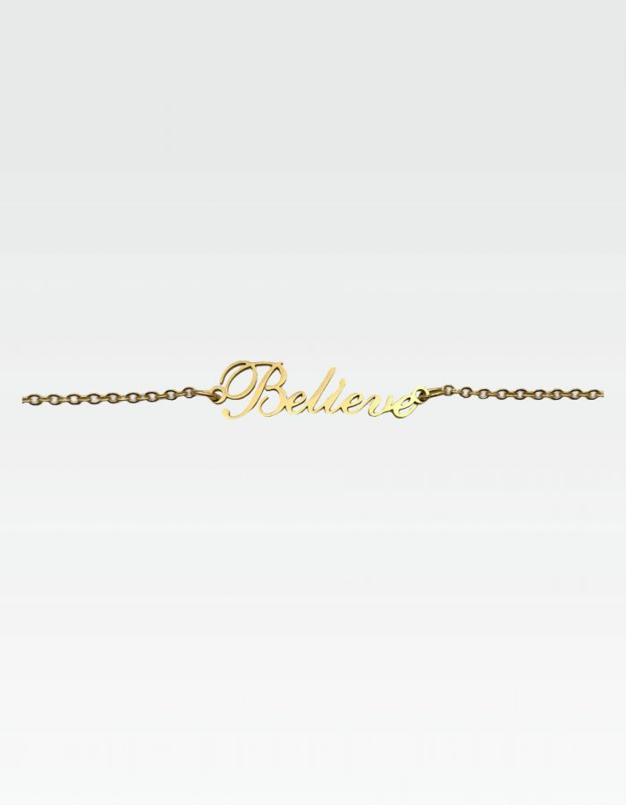 "Armband ""Believe"" - Gold"