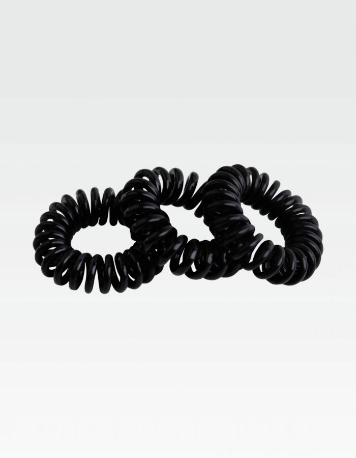 Curly Loops, schwarz - Set 3 Stk.