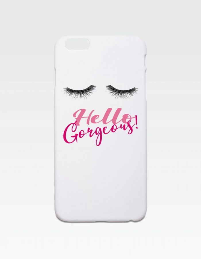 "weißes Smartphonecover ""Hello Gorgeous"""