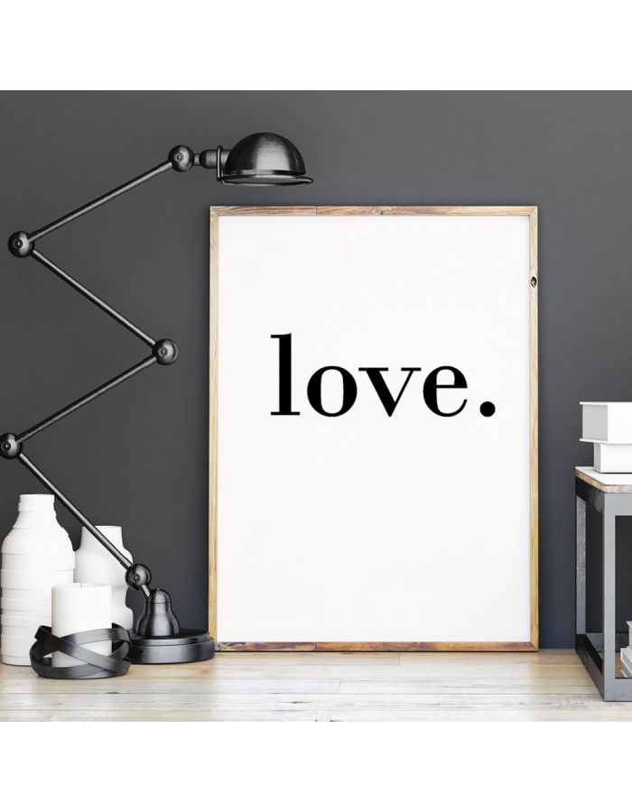 "Poster ""love."""