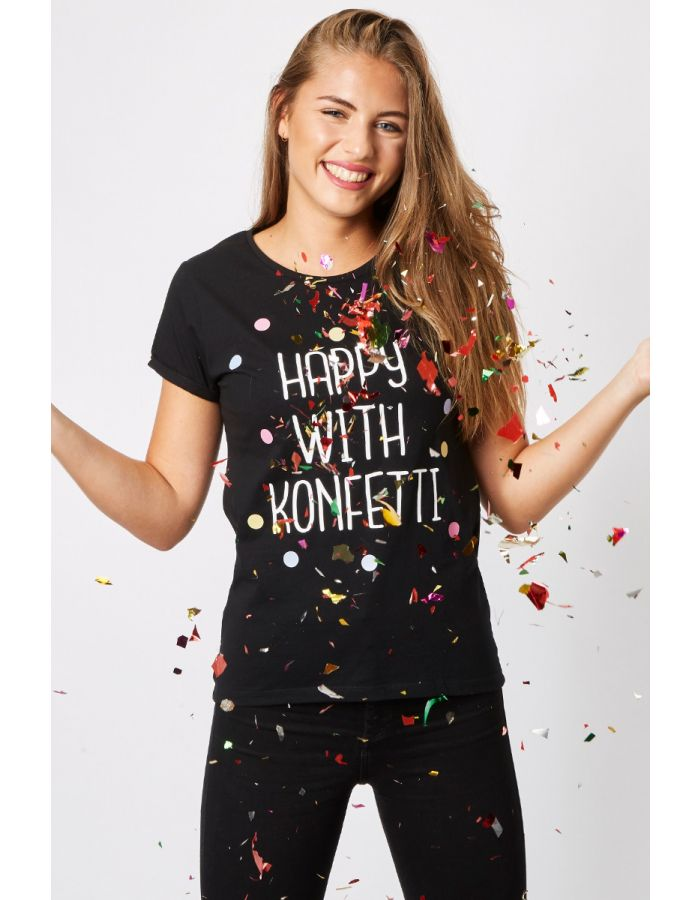 "T-Shirt ""HAPPY WITH KONFETTI"""