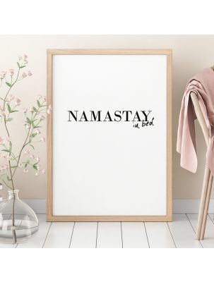 """Poster """"namastay in bed"""""""