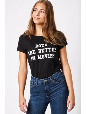 "T-Shirt ""BOYS ARE BETTER IN MOVIES"""